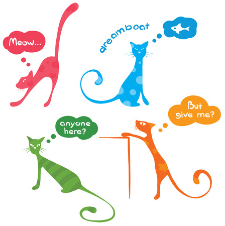 funny kittys Stock Vector - 7308377