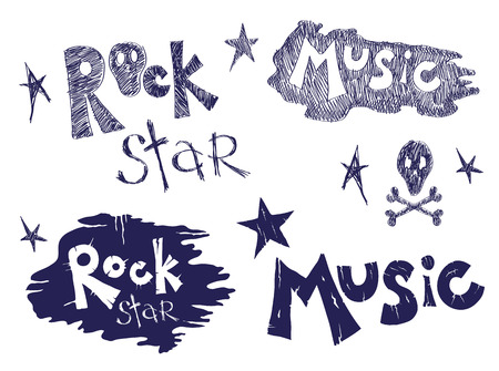 Rock music set Stock Vector - 7376915