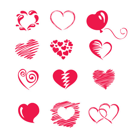 curlicues: set icon -- hearts