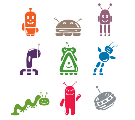 set of icons Robots Vector