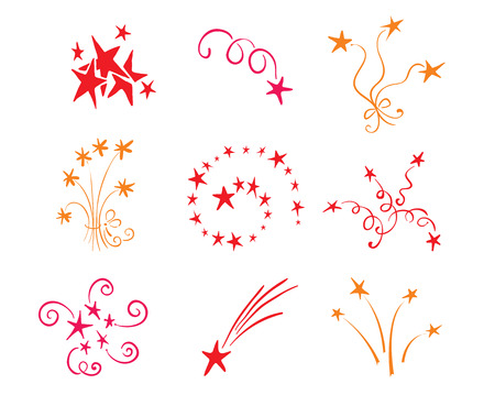 Icons - - salutes the stars Stock Vector - 7547555