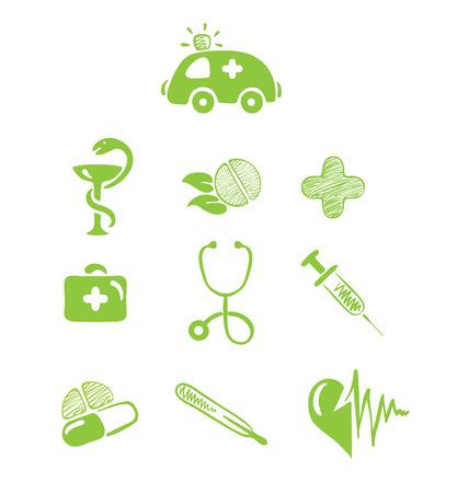 Icons - Medical Theme  Illustration