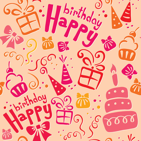 pink pattern birthday Vector