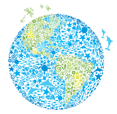 joy of life: Illustration of living planet Illustration