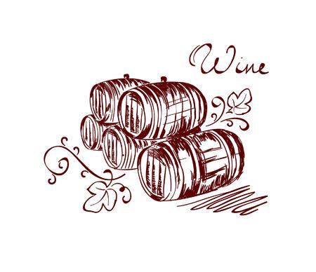 wine barrels Stock Vector - 7594177