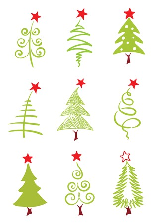 christmas trees: Icons - Christmas trees