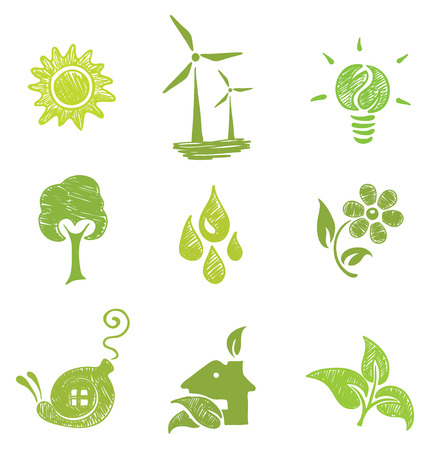 set di icone - ecologia