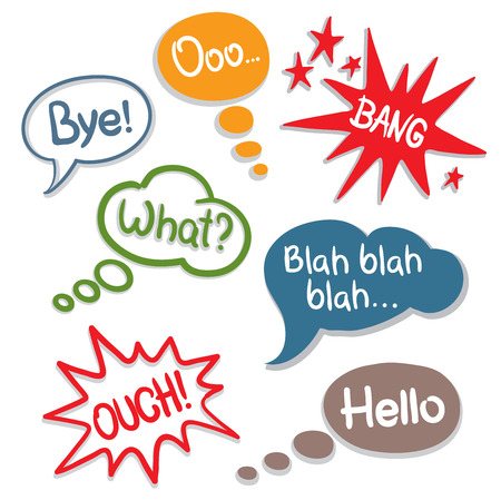 set -- comics speech  Stock Vector - 7686746