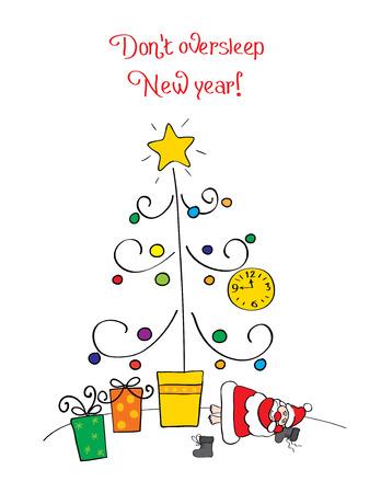 botas de navidad: No oversleep Navidad  Vectores