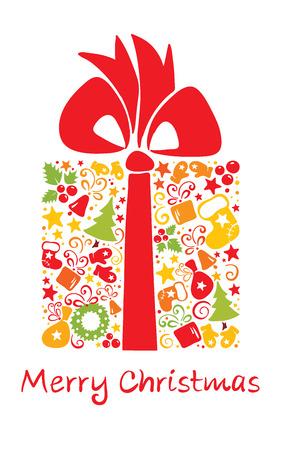 mitten: Card -- Christmas gift