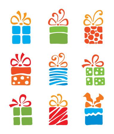 set boxes Vector Illustration