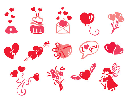 seduction: A collection of objects - love  Illustration