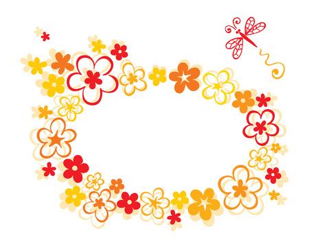 The frame flower Stock Vector - 7879333