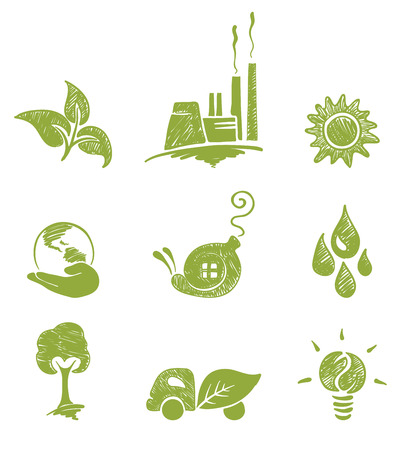 Eco set  Иллюстрация