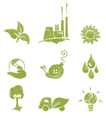 Eco set  Illustration
