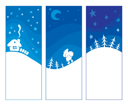 Three blue background - Christmas  Vector