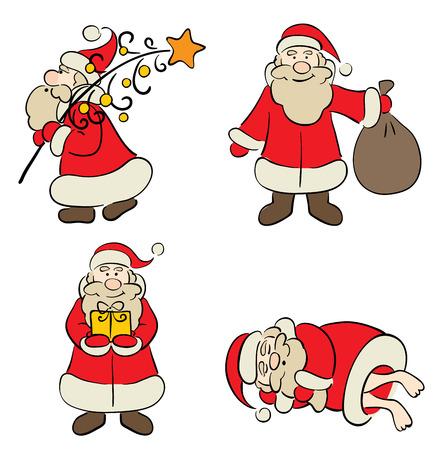 sleeping bags: Jolly Santa Claus  Illustration