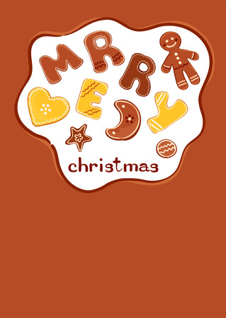 Background - Christmas cakes  Vector