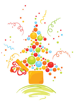 Box with Christmas tree  Stock Vector - 8307070