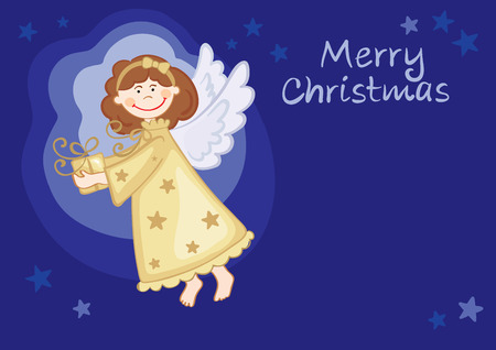 Angel with gifts  Vector