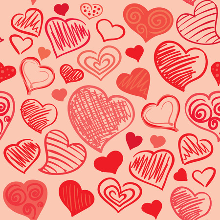 Background with abstract hearts  Vector