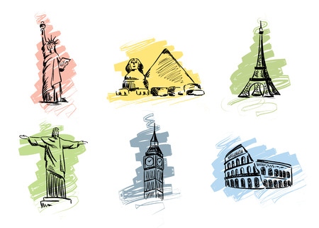 Set landmarks  Stock Vector - 8845248