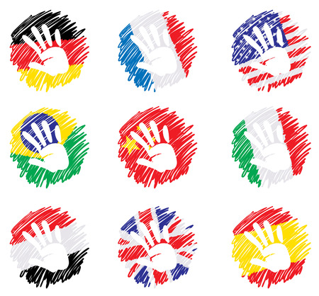 Abstract drawing - flags Stock Vector - 8845246