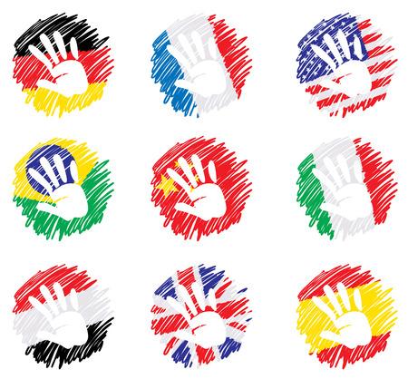 bandera inglaterra: Plano abstracto - banderas  Vectores
