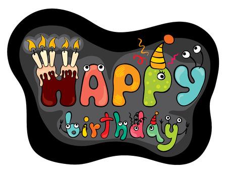 "Funny characters ""Happy Birthday"""