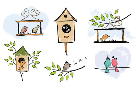Collection of funny birds