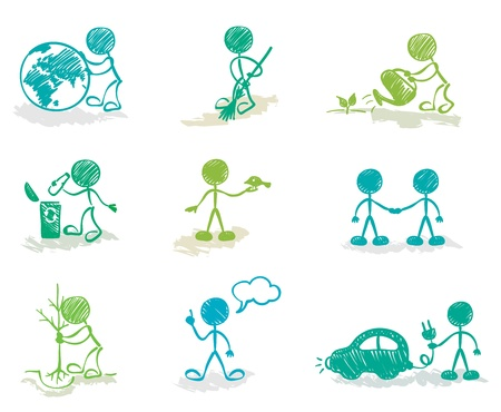 Funny Ecology  Illustration