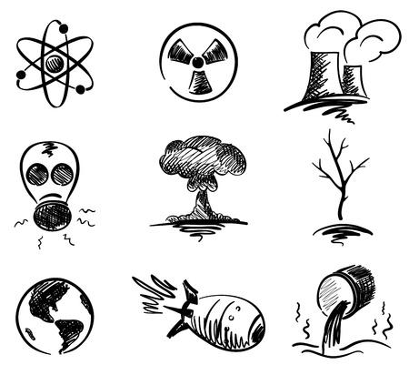 Set - nuclear energy  Stock Vector - 9462795