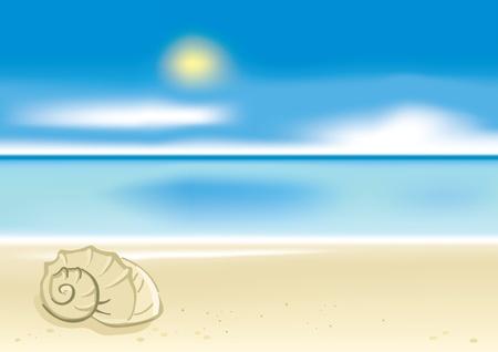 shoreline: Summer beach background