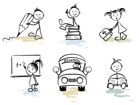 convivencia escolar: Hombre divertido - escuela  Vectores