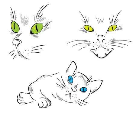 devious: A collection of cats  Illustration