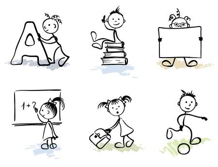 schoolchild: Funny Men - Schoolchild  Illustration