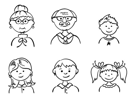 group of old people: Set - Family
