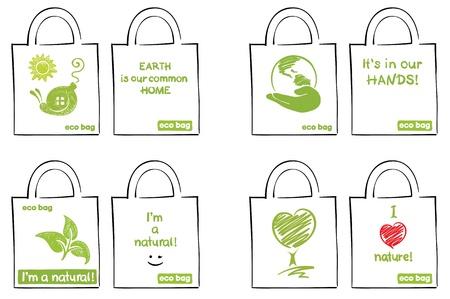 Modèle pour sacs écologiques