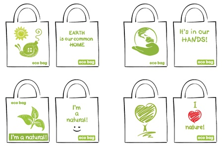 fabric bag: Model for ecological bags