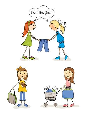 Shopaholic Girls  Vector
