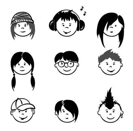 cartoon faces: Avatars - Teenagers