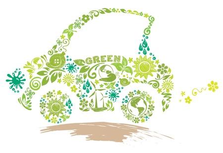 Eco car  Stock Vector - 10447852