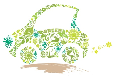 eco car: Eco car  Illustration