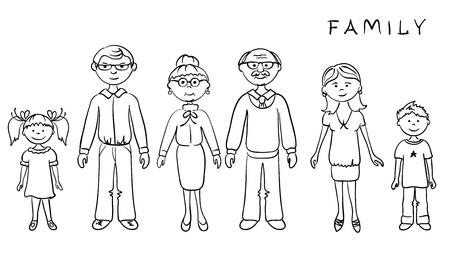 genitore figlio: Grande famiglia