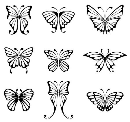 silhouettes: Tattoo - Butterflies