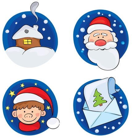boule de neige: Un ensemble de milieux « Christmas »  Illustration