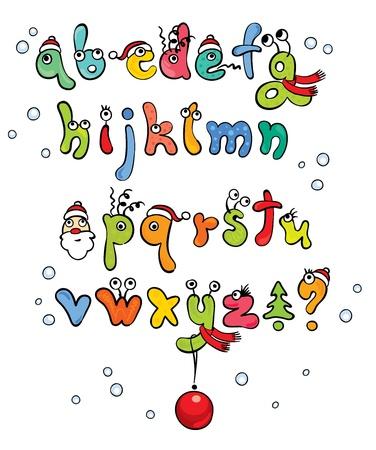 alphabetical letters: funny christmas alphabet
