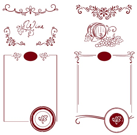 Set for the label Stock Vector - 10783424