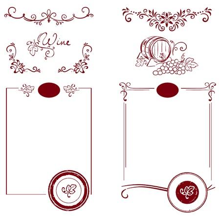 Set for the label  Illustration