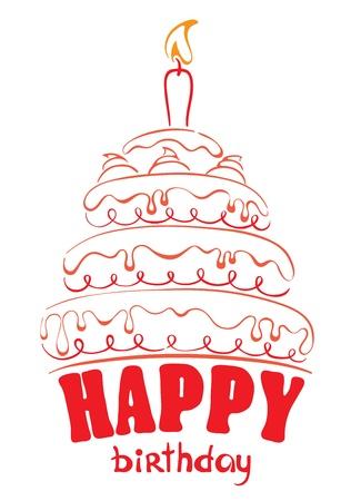 felicitaciones cumpleaÑos: Cake - Feliz cumpleaños